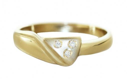 Ring Gold 585 mit Brillanten Damenring 14 Kt. Top Design Goldring RW 57