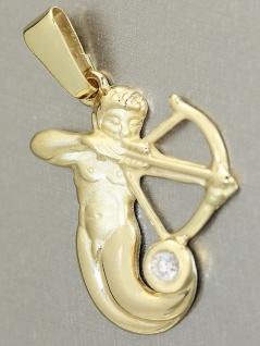 Sternzeichen Schütze - Goldanhänger 750 mit Zirkonia - Anhänger echt Gold 18 kt