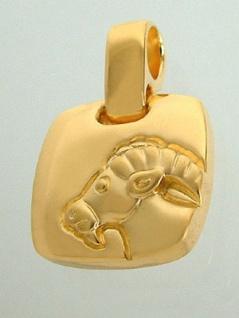 Sternzeichen Steinbock Goldkette Kette und Anhänger vergoldet Panzerkette Gold