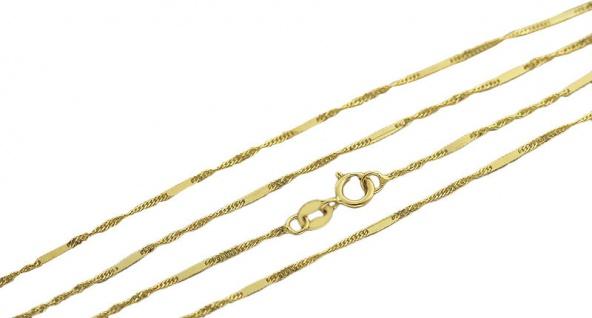 45 cm feine massive Goldkette 585 Singapurkette mit Muster Kette Gold 14 kt