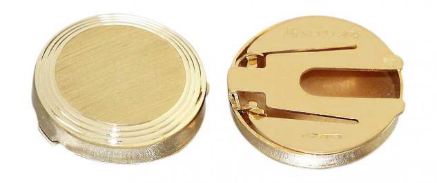 Manschettenknöpfe Gold 750 / 18 Karat Knopfabdeckungen 4, 9 gr. Gelbgold Herren