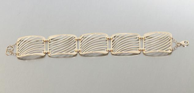 Armband Gold 585 Gelbgold 14 Karat breites Damenarmband Armkette 15, 5 gr.