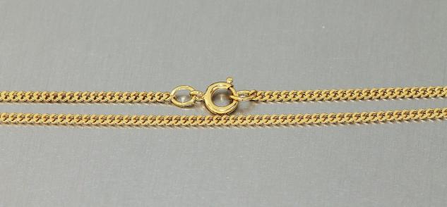 5 Stk Kinderketten vergoldet 37 cm massive Panzerkette Gold pl Halskette Kette