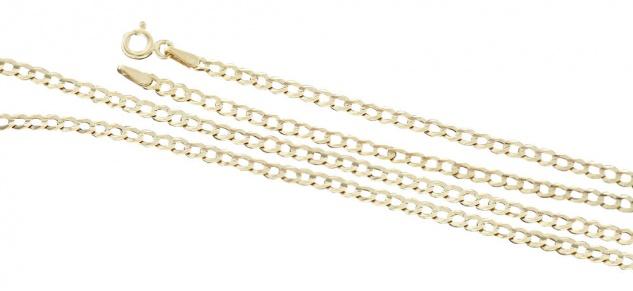 50 cm Panzerkette massiv - Goldkette 585 - Halskette Kette Gold 14 kt Massivgold