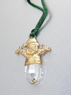 Engel Weihnachts Schmuck mit Kristall Anhänger Gold pl Weihnachtsengel
