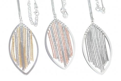 Topmodische Silberkette 925 mit Anhänger Halskette Collier Silber od bicolor