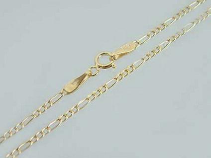 50 cm geschliffene Goldkette 333 - feine massive Figarokette - Kette Gold