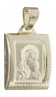 Anhänger Gold 585 Hl. Maria Mutter Gottes mit Jesus Marienanhänger 14 Karat