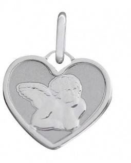 Schutzengel Anhänger Herz Gelbgold oder Weißgold 585 Goldanhänger Engel Herz - Vorschau 3