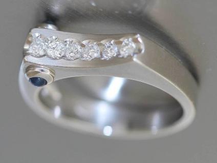 Brillantring 0, 21 ct. Designerring Ring Weißgold 585 Brillant Saphir Goldring - Vorschau 3