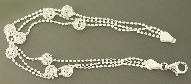 Armband Silber 925 Kugelarmband trendy Silberarmband Armkette 925