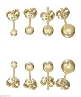 Kugel Ohrstecker Gold 585 / 14 Karat Stecker Gelbgold Ohrringe 3 4 4, 8 6, 3 mm