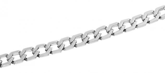 22 cm massives Silberarmband 925 rhodiniert Armband starke Armkette Silber 17 gr