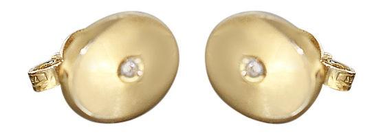 Ovale Ohrstecker Gold 750 mit Brillanten Ohrringe Brillantstecker 18 Karat