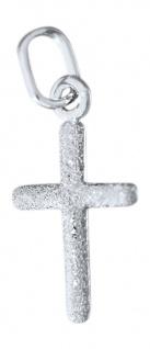 Zur Taufe od. Kommunion kleines Kreuz Weißgold 585 Goldkreuz beidseitig tragbar