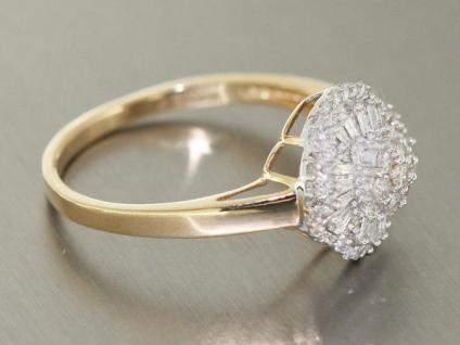 Luxus Brillantring Gold 585 Diamantring 0, 50 ct. Goldring Ring RW 66 - Vorschau 3