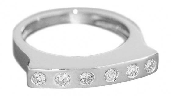 Moderner Weißgoldring 750 - Brillantring 0, 28 ct Ring Weißgold 18 Kt. Damenring