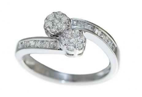 Eleganter wertvoller Ring Weißgold 750 Brillantring 0, 52 ct. Weißgoldring Gold