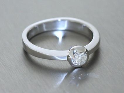 Brillantring 0, 20 ct Weißgold 585 Ring Brillant Solitär Weißgoldring Damenring - Vorschau 2