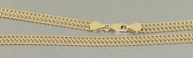 Breite Goldkette 585 - elegantes flaches Collier - 45 cm Kette Gold - Halskette