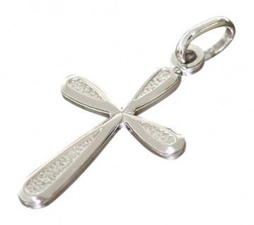 Kleines Silberkreuz 925 Anhänger Kreuz zur Kommunion oder Taufe echt Silber