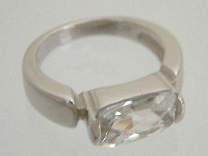 Traumhafter Silberring 925 großer Zirkonia Solitärring Ring Silber
