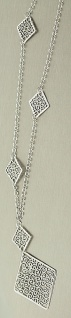 67 cm lange Silberkette 925 rhodiniert mit Anhänger Kette Silber Halskette