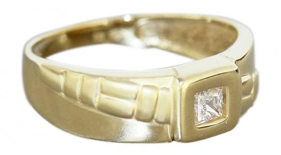 Ring Gold 750 Zirkonia Carree Damenring Goldring 18 Karat RW 54