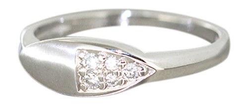 Brillantring - Weißgoldring 585 mit Brillanten 0, 12 ct. Ring Weißgold 14 kt Gold - Vorschau 1