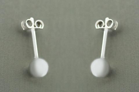 6 mm Kugel Ohrstecker Silber 925 Ohrschmuck kleine Silberohrstecker Ohrringe