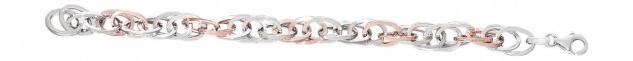 Luxus Armband Silber 925 bicolor Rotgold Silberarmband Damenarmband Armkette