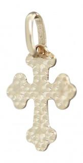 Kleines Kreuz Gold 585 Anhänger zur Taufe Goldkreuz für Kinder Kettenanhänger