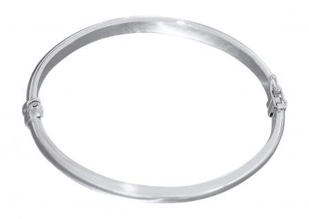Ovaler glatter Armreif Silber 925 Silberreif aufklappbar Armspange Armband