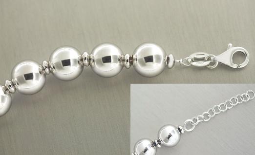 Großes Kugelarmband Silber 925 Silberarmband Silber Armkette Perlenarmband