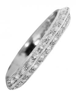 Weißgoldring 750 mit funkelnden Zirkonias Ring Weißgold 18 Kt Bandring Damenring