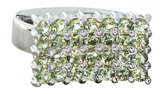 Großer Silberring 925 Peridot Ring Silber massiv Damenring Designerring