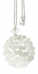 Kette und großer Herz Anhänger Silber 925 Silberkette Collier Herzen Blickfang!!