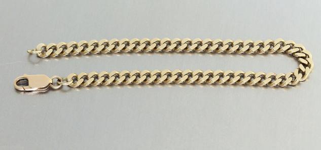Armband Gold 585 - 21, 0 cm lang - Goldarmband 585 - Panzerarmband 14 kt Gold