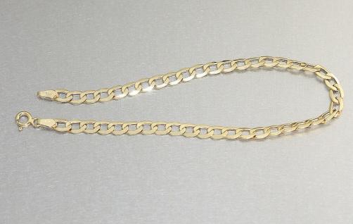 Panzerarmband Gold 585 Goldarmband Armkette 21 cm Armband Gelbgold 14 Karat
