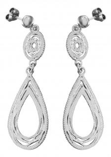 Lange Ohrhänger Silber 925 Tropfen Ohrstecker rhodiniert Ohrringe Ohrschmuck