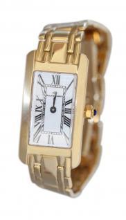 Massive Golduhr 585 / 14 Karat Damenuhr Philip Geradot Armbanduhr Gelbgold