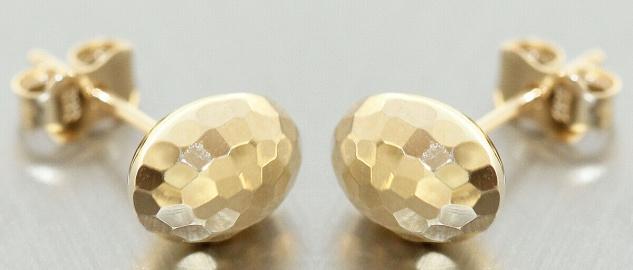 Ohrstecker Gold 585 funkelnd geschliffene Ohrringe Damen Ohrschmuck 14 Karat