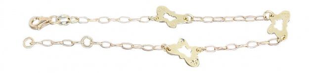 Armband Gold 585 Schmetterling Armband Armkette Goldarmband 14 Karat Gelbgold