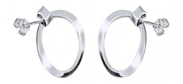 Ohrstecker Silber 925 rhodiniert Ohrringe Damen Ohrschmuck
