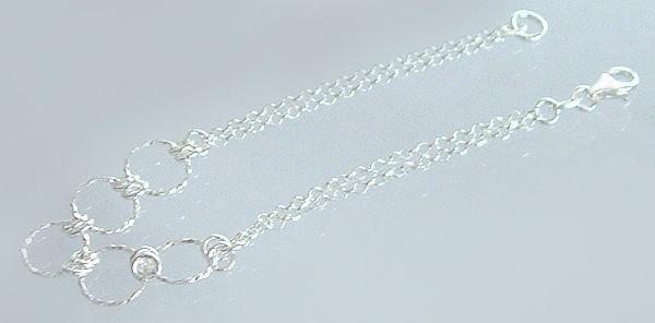 Silberarmband 925 - Armband Silber 17 cm - mit Karabiner - Armkette echt Silber