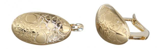 Creolen Gold 585 / 14 Karat ovale Ohrringe Goldcreolen Goldohrringe Klappcreolen