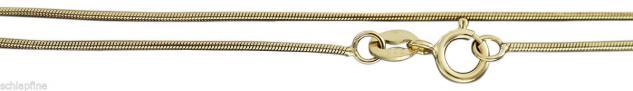 Massive feine Schlangenkette 585 Goldkette 42 cm lang Kette Gold 14 kt Halskette