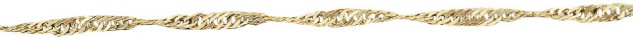 50 cm Singapurkette Gold 333 Kette Goldkette - Collier funkelnde Halskette 8 kt