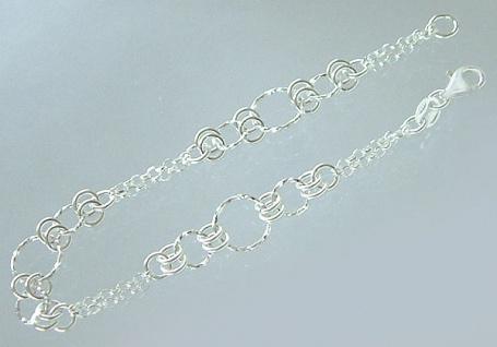 Sehr schönes Armband Silber 925 - massives Silberarmband 18, 5 cm lang - Armkette
