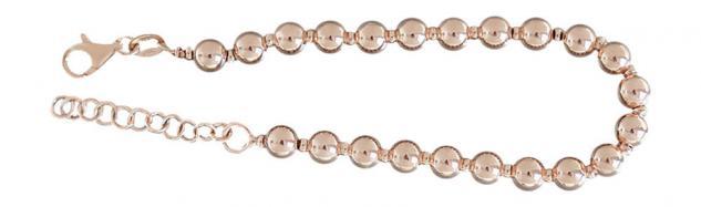 6 mm Kugel Armband Silber 925 Rotgold Silberarmband Kugelkette Rosegold Perlen